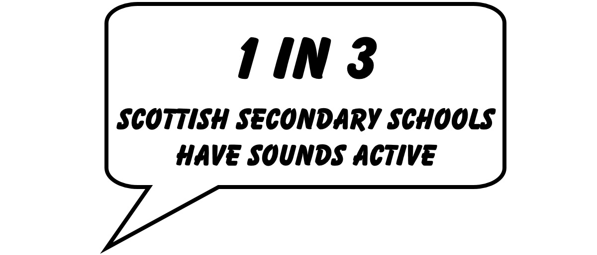 1 in 3 Scottish Secondary Schools have Sounds Active