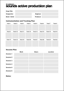 Sounds Active Production Plan template