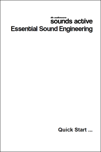 Sounds Active Essential Sound Engineering Quick Start