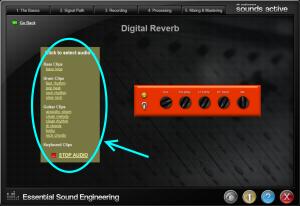Sounds Active equipment store highlighting media bar